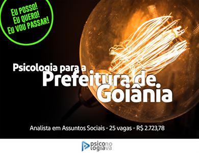 [Prefeitura de Goiânia SEMAD Analista Social]