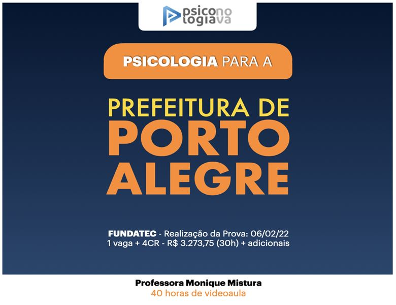 [Prefeitura de Porto Alegre - Isolado de Psicologia]